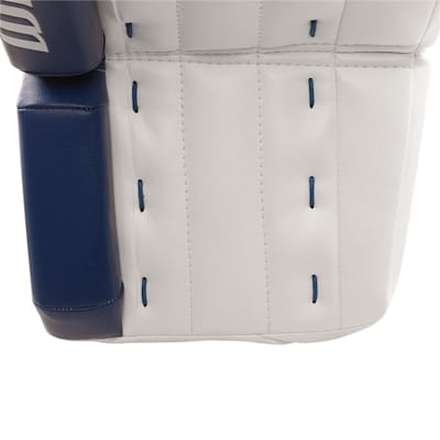 Front View - Toe Shot (Warrior Ritual GT Classic Goalie Leg Pads - Senior)