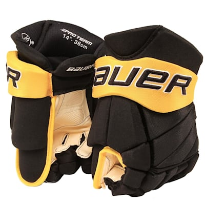 Black/Gold (Bauer PHC Vapor Pro Hockey Gloves - Junior)