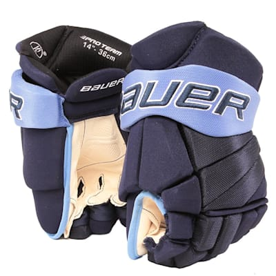 Navy/Carolina Blue (Bauer PHC Vapor Pro Hockey Gloves - Junior)