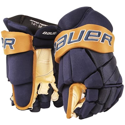 Navy/Vegas Gold (Bauer PHC Vapor Pro Hockey Gloves - Junior)