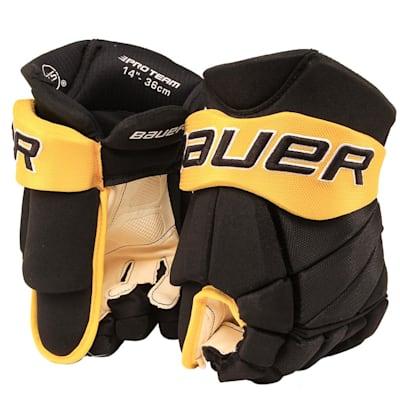 Black/Gold (Bauer PHC Vapor Pro Hockey Gloves - Senior)