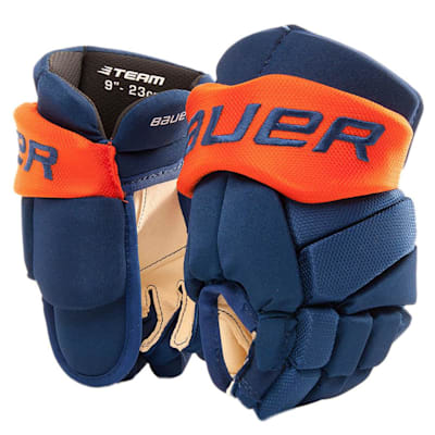 Blue/Orange (Bauer Pure Hockey Custom Vapor Team Hockey Glove - Youth)