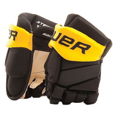 Black/Gold/White (Bauer Pure Hockey Custom Vapor Team Hockey Glove - Youth)