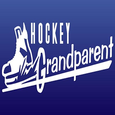 White (Slapshot Stickers Hockey Grandparent Sticker)