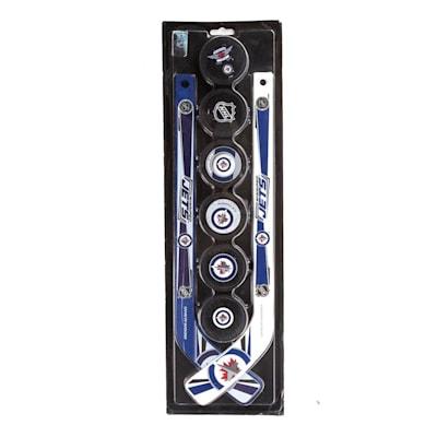 Winnipeg Jets (Sher-Wood NHL Mini Hockey Stick and Puck Set)