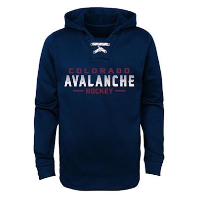 Colorado Avalanche (Adidas Avalanche Basic Poly Hockey Hoody - Youth)