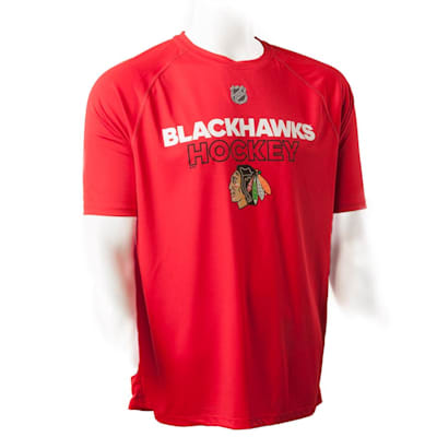 Chicago Blackhawks (Adidas Blackhawks Authentic Ice Short Sleeve Tee - Mens)