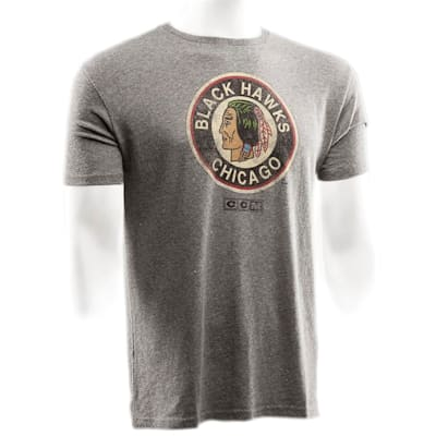 Chicago Blackhawks (CCM Chicago Blackhawks Heritage Logo Short Sleeve Tee - Mens)