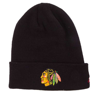 Chicago Blackhawks (Adidas Cuffed Knit Chicago Blackhawks Hat)