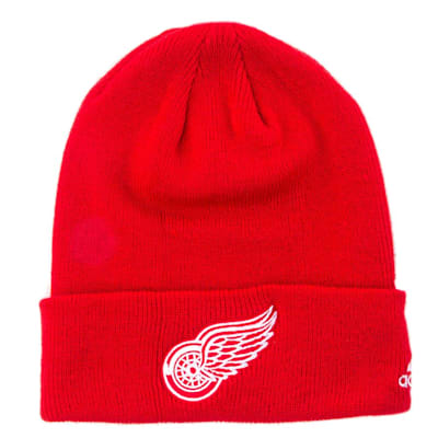 Detroit Red Wings (Adidas Cuffed Knit Detroit Red Wings Hat)