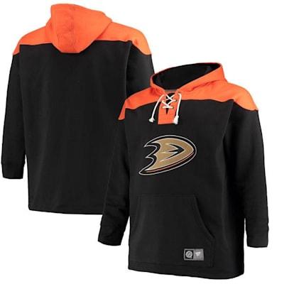 Anaheim Ducks (Fanatics Anaheim Ducks Fleece Lace Up Hoody - Mens)