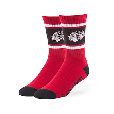 Chicago Blackhawks (47 Brand NHL Team Duster Crew Socks)