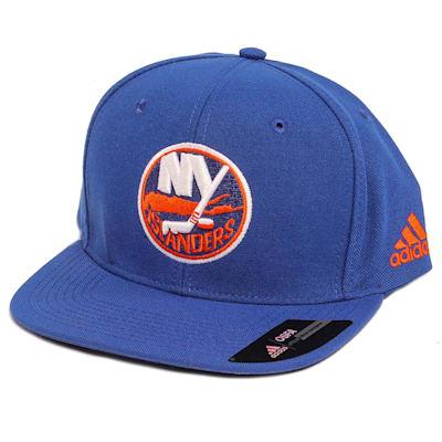 Flat Brim Islander Cap (Adidas Flat Brim New York Islanders Hockey Hat)