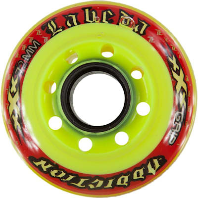 Yellow/Red (Labeda Addiction Signature Inline Hockey Wheels - Orange)
