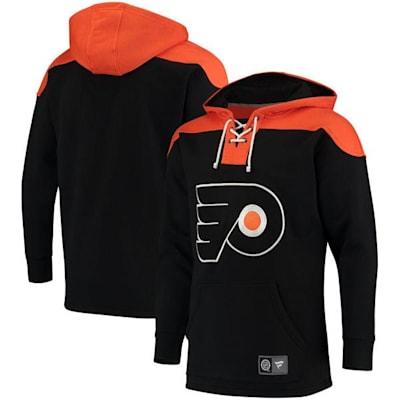 Philadelphia Flyers (Fanatics Philadelphia Flyers Fleece Lace Up Hoody - Adult)