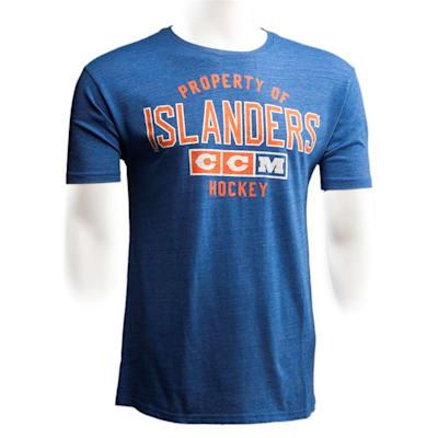 New York Islanders (CCM New York Islanders Team Property Short Sleeve Tee - Mens)