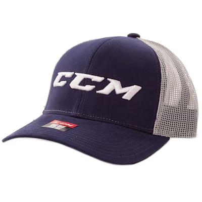 (CCM Meshback Trucker Cap Navy/Grey - Adult)