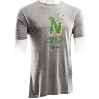 Front (CCM Minnesota North Stars Logo Short Sleeve Tee - Mens)