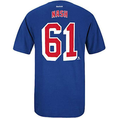 (Reebok Rick Nash NY Rangers RBK Tee - Mens)