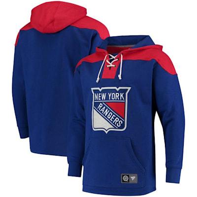 New York Rangers (Fanatics New York Rangers Fleece Lace Up Hoody - Adult)
