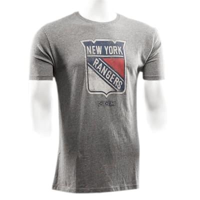 Front (CCM New York Rangers Heritage Logo Short Sleeve Tee - Mens)
