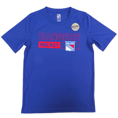 New York Rangers (Adidas Rangers Ice Form Performance Short Sleeve Tee - Youth)