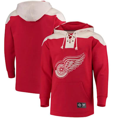 Detroit Red Wings (Fanatics Detroit Red Wings Fleece Lace Up Hoody - Mens)