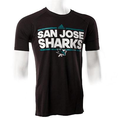 San Jose Sharks (Adidas San Jose Sharks Dassler Short Sleeve Tee - Mens)
