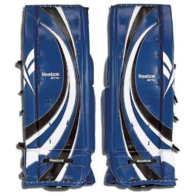 Front - Blue/White/Black (Reebok Premier III 9K Goalie Leg Pads - Senior)