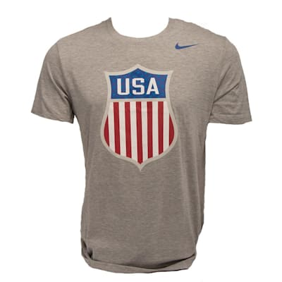Front (Nike Tri-Blend USA Hockey Short Sleeve Tee - Mens)