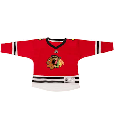 Home/Dark (Adidas Blackhawks Replica Jersey - Toddler)