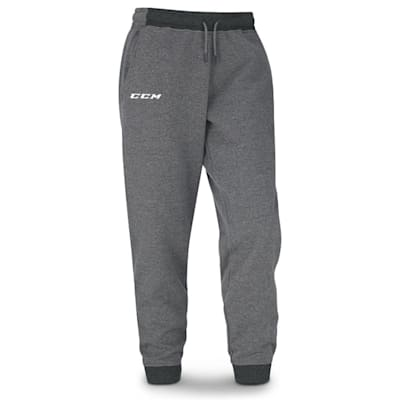 Grey (CCM Core Fleece Cuffed Sweatpants - Youth)