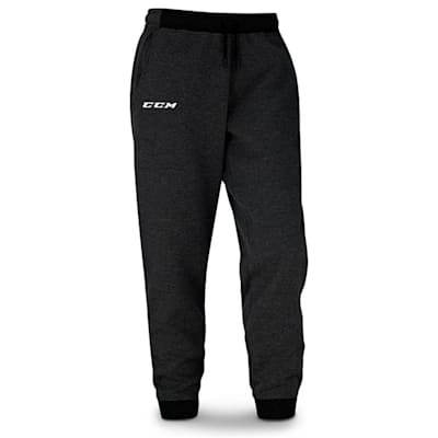 Black (CCM Core Fleece Cuffed Sweatpants - Adult)