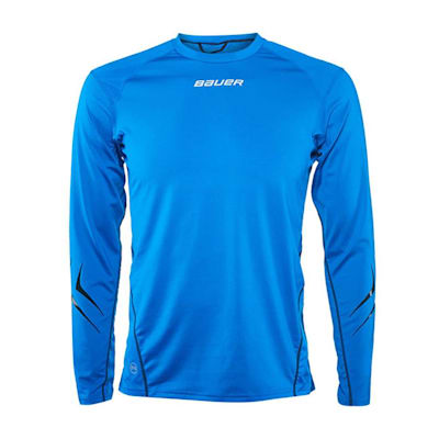 Blue (Bauer LE Premium Long Sleeve Grip Hockey Crew Top - 2017 - Adult)