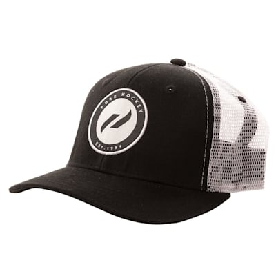 (Pure Hockey Black/White Mesh Back Hat - Adult)