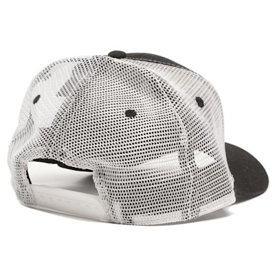 Back View (Pure Hockey Black/White Mesh Back Hat - Adult)