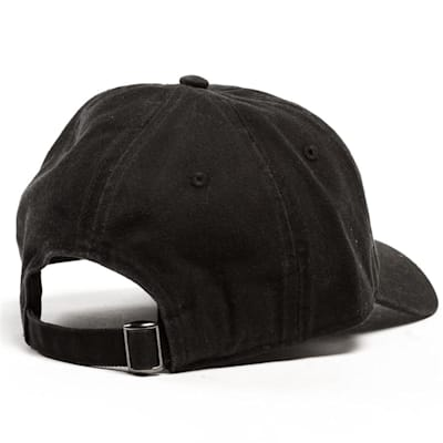 Back View (Pure Hockey Black/White Strapback Hat - Adult)
