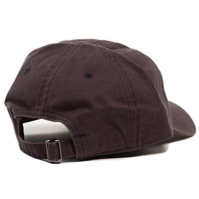 Back View (Pure Hockey Navy/White Strapback Hat - Adult)