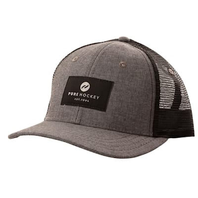 (Pure Hockey Chambray Grey/Black Mesh Back Hat - Youth)