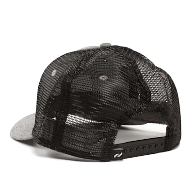 Back View (Pure Hockey Chambray Grey/Black Mesh Back Hat - Adult)