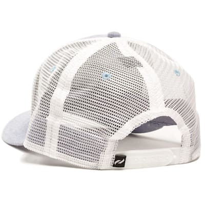 Back View (Pure Hockey Chambray Royal/Black Mesh Back Hat - Adult)