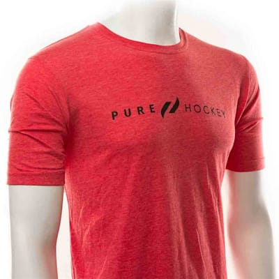 Black (Pure Hockey Classic Red Tee - Adult)