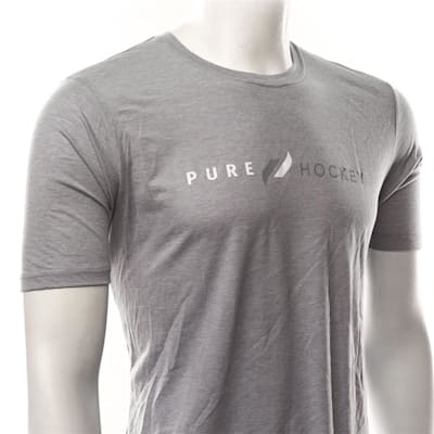 White/Grey (Pure Hockey Classic Stone Washed Denim Tee - Adult)