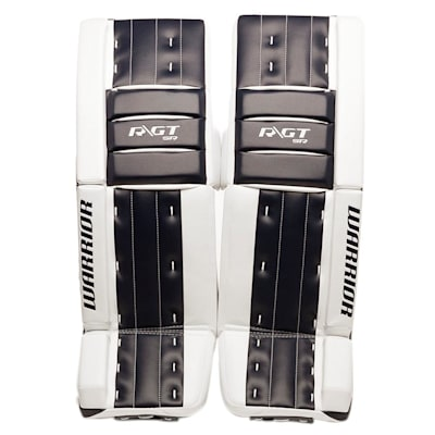 White/Navy (Warrior Ritual GT Classic SE Goalie Leg Pads - Senior)