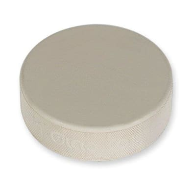 (Goalie Ice Hockey Practice Puck - White 6 Ounce)