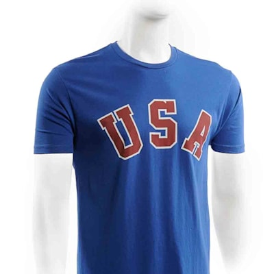 Front (Streaker Sports 1980 Jim Craig Miracle USA Hockey Jersey Tee - Mens)