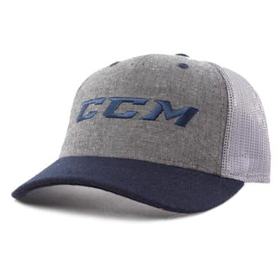 Grey/Pro College Blue (CCM Ivy Collection Cap - Grey/Pro College Blue - Adult)