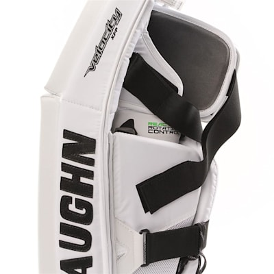 PHC XFP Pro Goalie Leg Pad - Side Close Up (Vaughn XFP Pro Goalie Leg Pads - Senior)