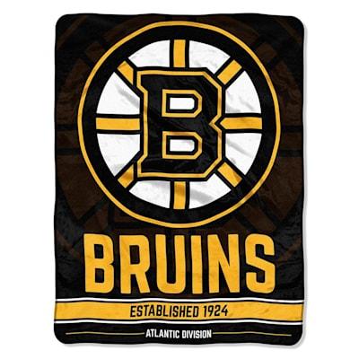 "Bruins (Northwest Company NHL Micro Raschel Throw Blanket - 46"" x 60"")"