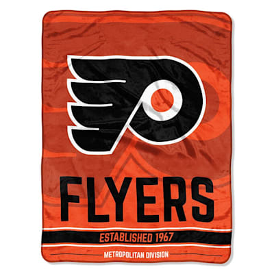 "Flyers (Northwest Company NHL Micro Raschel Throw Blanket - 46"" x 60"")"